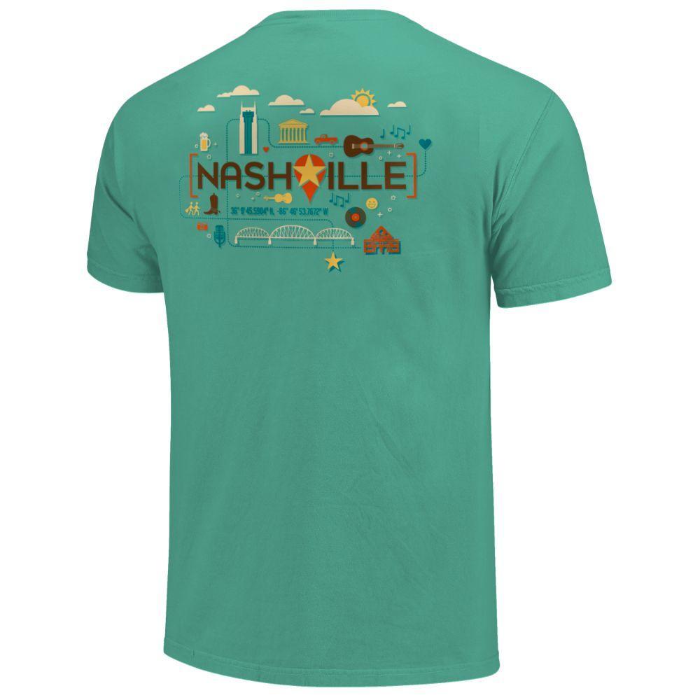 Men's Nashville Location Comfort Colors Tee