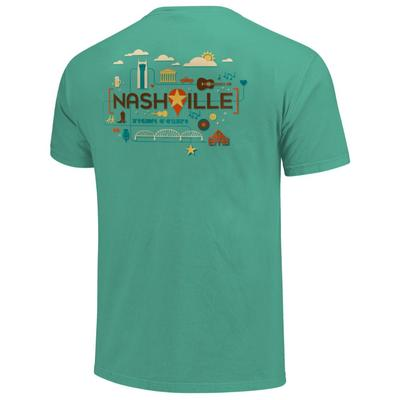 Men's Nashville Location Comfort Colors Tee