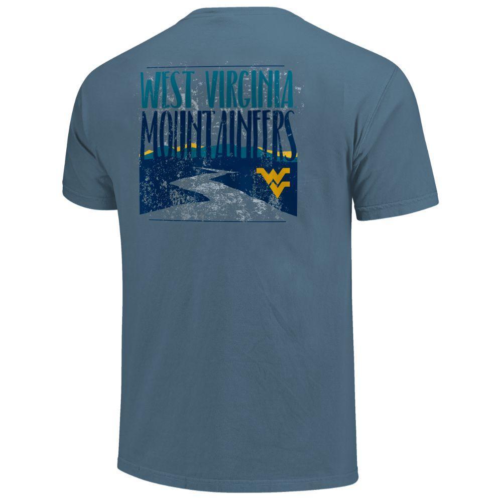 West Virginia Men's River Type Stack Short Sleeve Comfort Colors Tee
