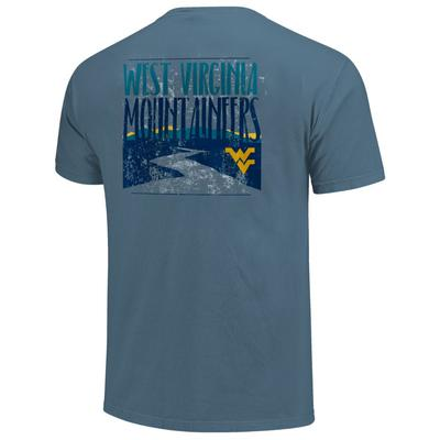 West Virginia Men's River Type Stack Short Sleeve Comfort Colors Tee