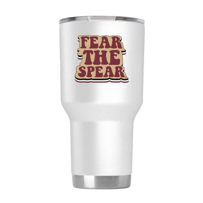 FSU 30 oz White 70s Bubble Font Tumbler