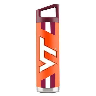 Virginia Tech 22 oz Orange Stripe Design Bottle