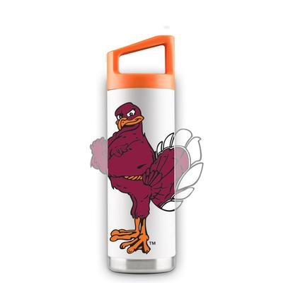 Virginia Tech 16 oz White Oversized Mascot Bottle