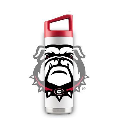 Georgia 16 oz White Oversized Mascot Bottle