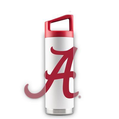 Alabama 16 oz White Oversized Mascot Bottle