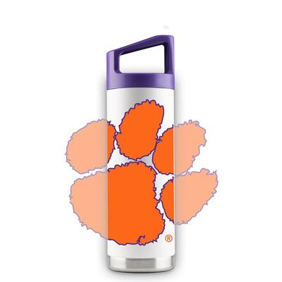 Clemson 16 oz White Oversized Mascot Bottle