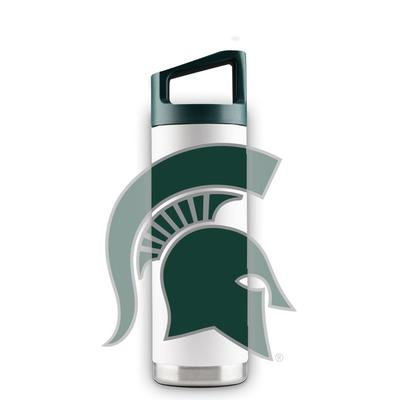 Michigan State 16 oz White Oversized Mascot Bottle
