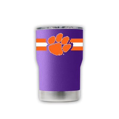 Clemson 3-N-1 Jacket Purple Stripe Tumbler