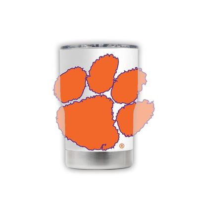 Clemson 3-N-1 Jacket White with Oversized Mascot Tumbler