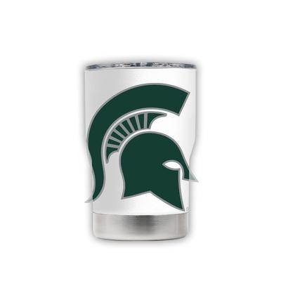 Michigan State 3-N-1 Jacket White with Oversized Mascot Tumbler