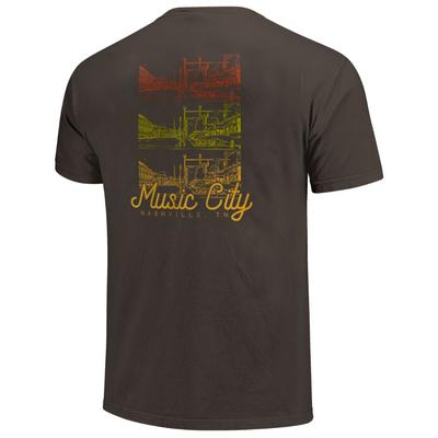 Nashville Men's Music City Tri Color Short Sleeve Comfort Colors Tee