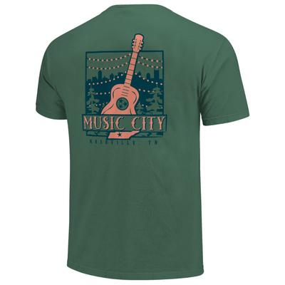 Nashville Men's Music City Guitar Short Sleeve Comfort Colors Tee