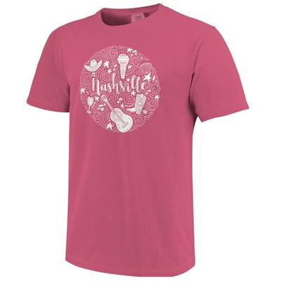 Nashville Icons Short Sleeve Comfort Colors Tee