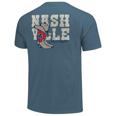 Nashville Men's Country Style Boots Short Sleeve Comfort Colors Tee