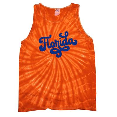 Florida Summit Fun Font Tie Dye Tank Top