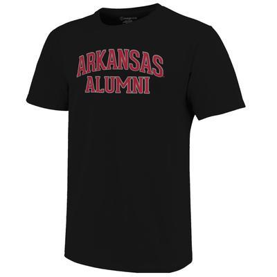 Arkansas Women's Lined Alumni Arch Tee BLACK