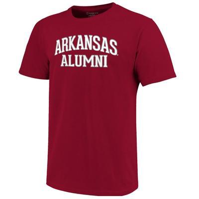Arkansas Women's Lined Alumni Arch Tee CARDINAL