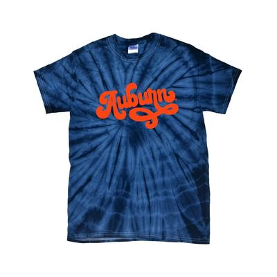Auburn Women's Fun Font Short Sleeve Tie Dye Tee