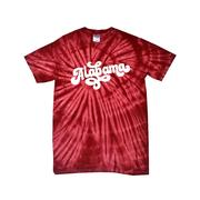 Alabama Women's Fun Font Short Sleeve Tie Dye Tee