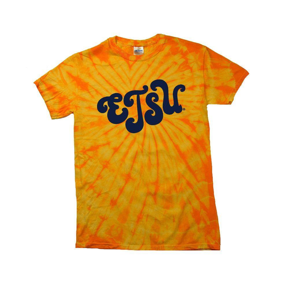 Etsu Women's Fun Font Tie Dye Tee