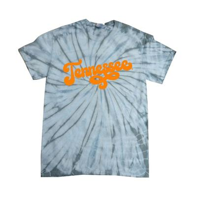 Tennessee Women's Fun Font Short Sleeve Tie Dye Tee