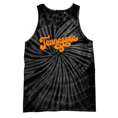 Tennessee Women's Fun Font Tie Dye Tank