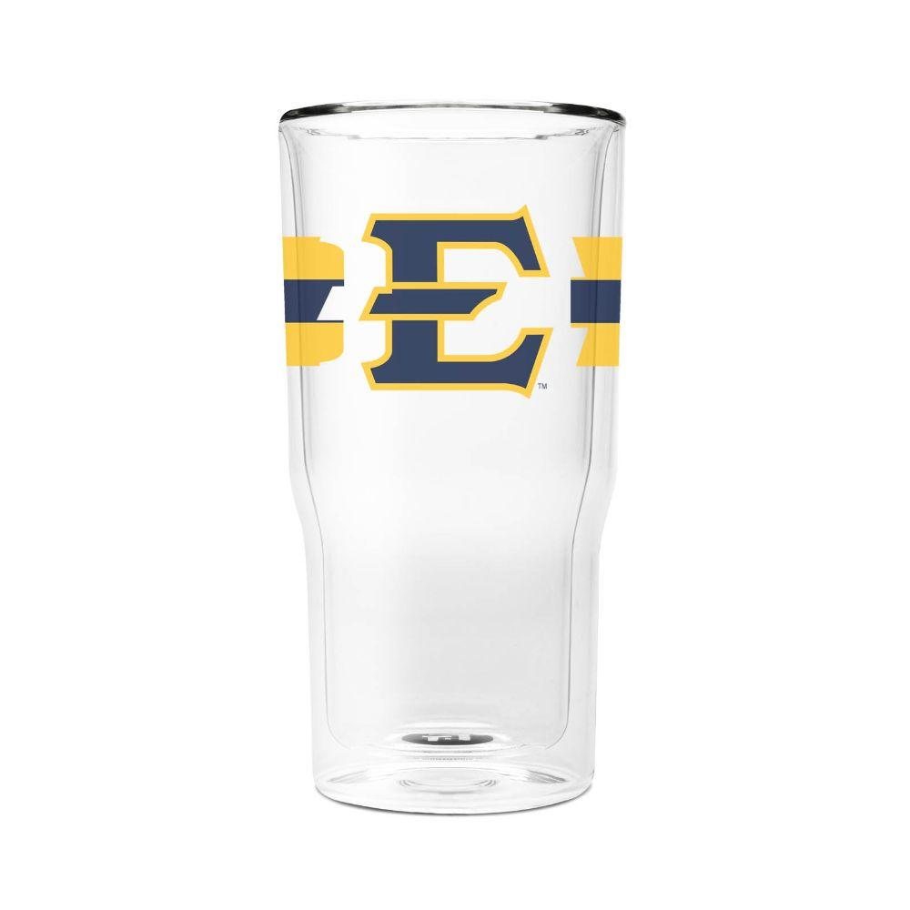 Etsu 16 Oz 2- Pack With Primary Logo/Stripe Glasses