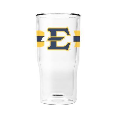 ETSU 16 oz 2-Pack with Primary Logo/Stripe Glasses