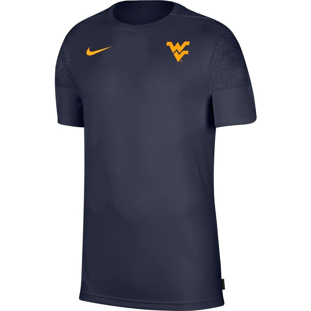 West Virginia Nike Men's Coach Uv Short Sleeve Top