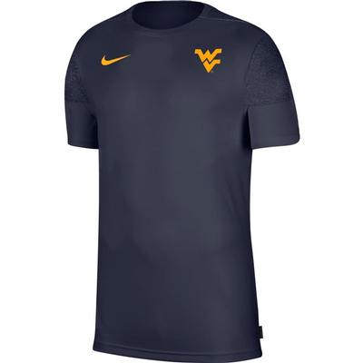West Virginia Nike Men's Coach UV Short Sleeve Top