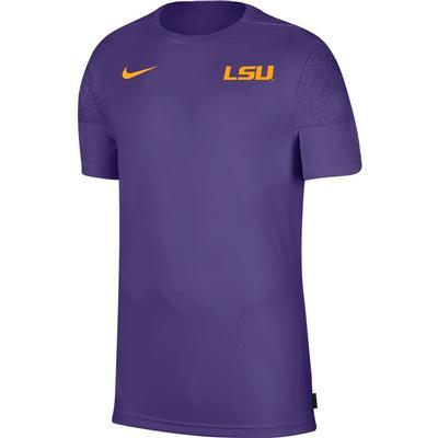 LSU Nike Men's Coach UV Short Sleeve Top
