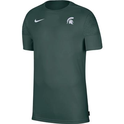 Michigan State Nike Men's Coach UV Short Sleeve Top