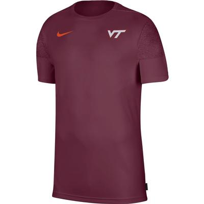 Virginia Tech Nike Men's Coach UV Short Sleeve Top