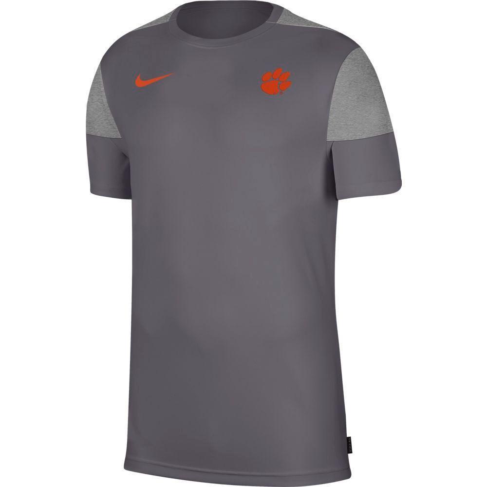 Clemson Nike Men's Coach Uv Short Sleeve Top