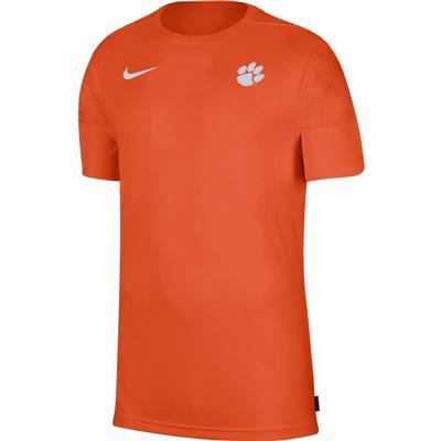 Clemson Nike Men's Coach UV Short Sleeve Top ORANGE