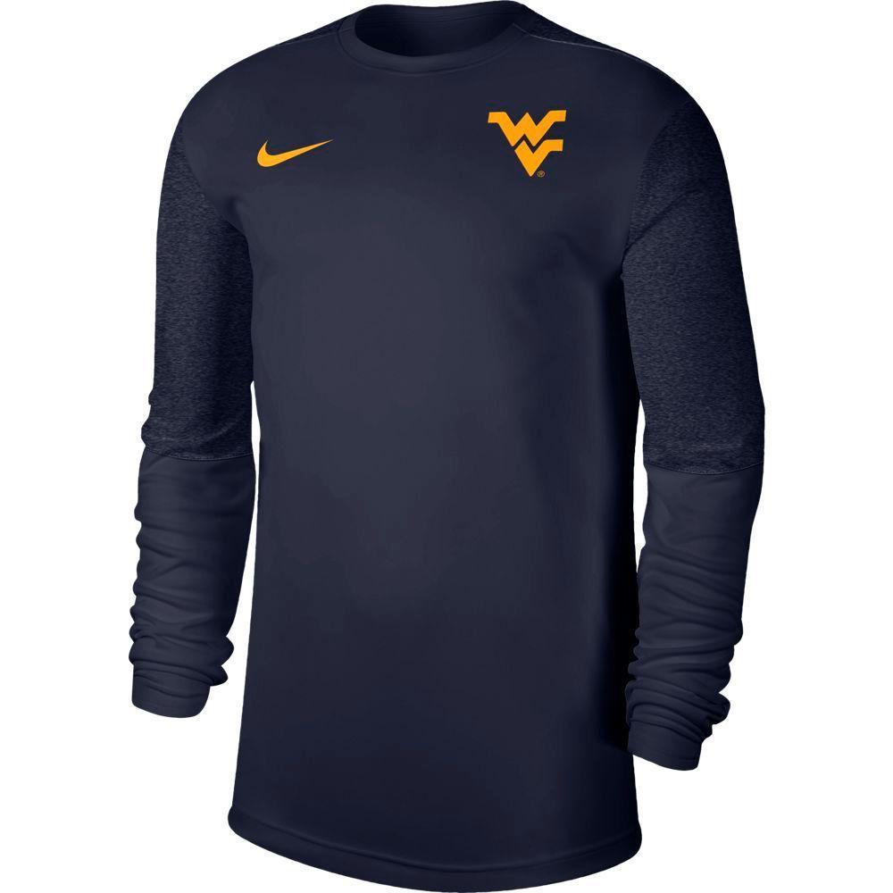West Virginia Nike Men's Coach Uv Long Sleeve Top