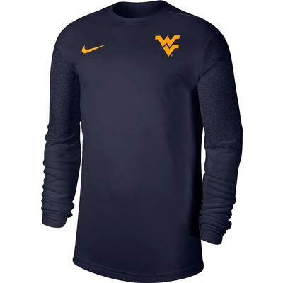 West Virginia Nike Men's Coach UV Long Sleeve Top