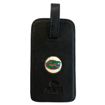 Florida Ahead Golf Black Leather Luggage Tag