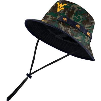West Virginia Nike Camo Dry Bucket Hat