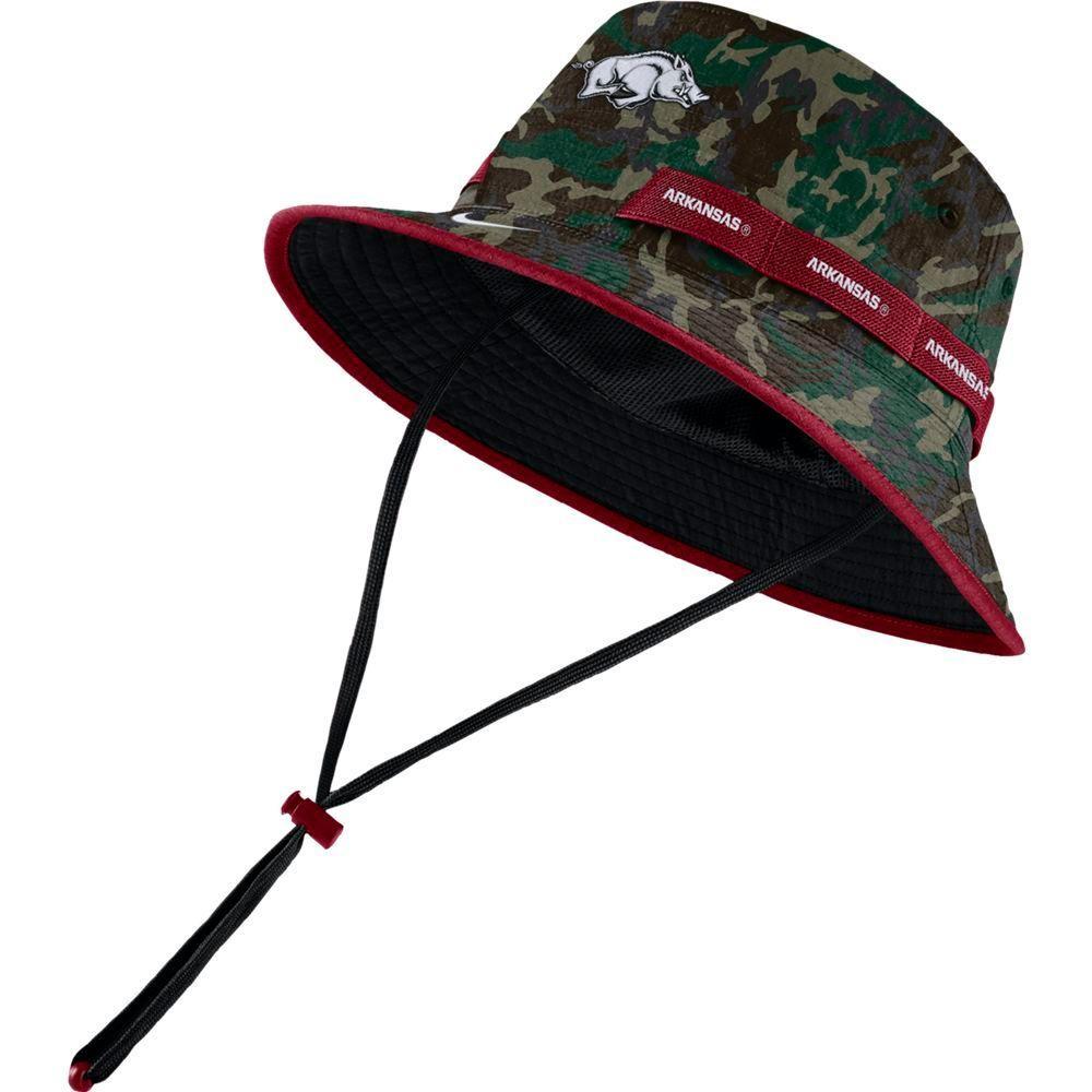 Arkansas Nike Camo Dry Bucket Hat