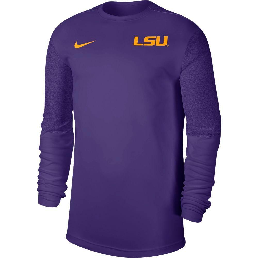 Lsu Nike Men's Coach Uv Long Sleeve Top