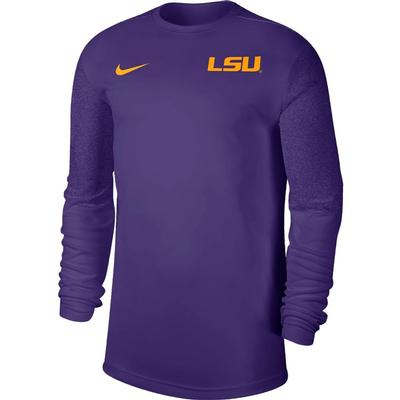 LSU Nike Men's Coach UV Long Sleeve Top