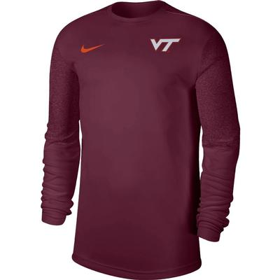 Virginia Tech Nike Men's Coach UV Long Sleeve Top