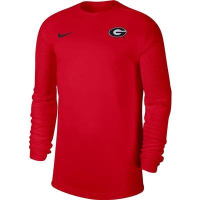 Georgia Nike Men's Coach UV Long Sleeve Top