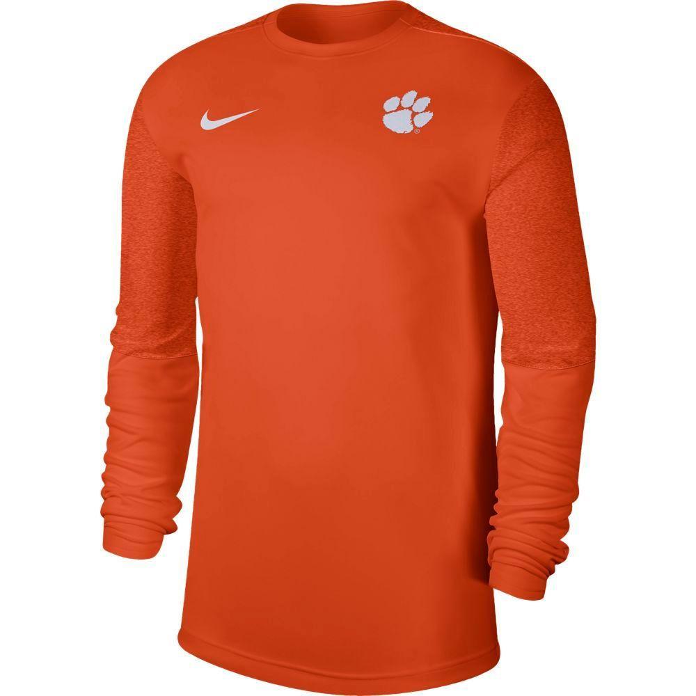 Clemson Nike Men's Coach Uv Long Sleeve Top