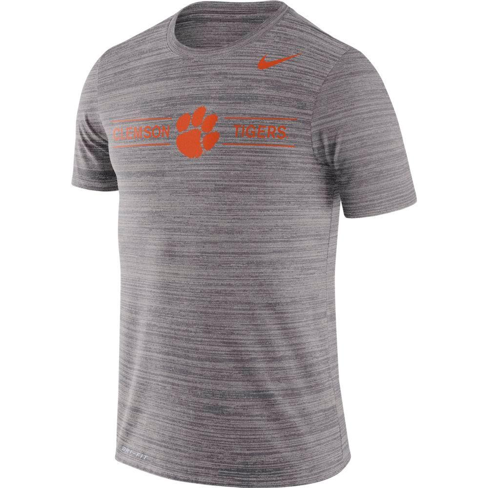 Clemson Nike Men's Dri- Fit Velocity Short Sleeve Tee