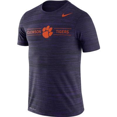 Clemson Nike Men's Dri-fit Velocity Short Sleeve Tee NEW_ORCHID