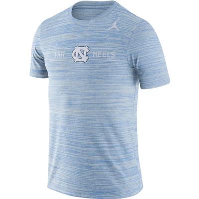 UNC Nike Men's Dri-fit Velocity Short Sleeve Tee VALOR_BLUE