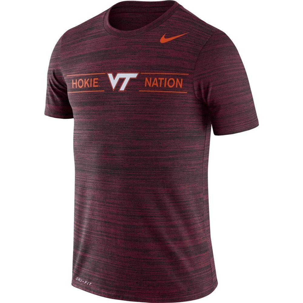Virginia Tech Nike Men's Dri- Fit Velocity Short Sleeve Tee