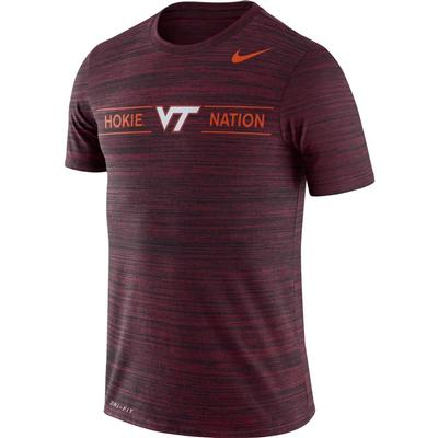 Virginia Tech Nike Men's Dri-fit Velocity Short Sleeve Tee